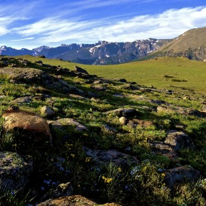 Tombstone Ridge Panorama - Rocky Mountain National Park